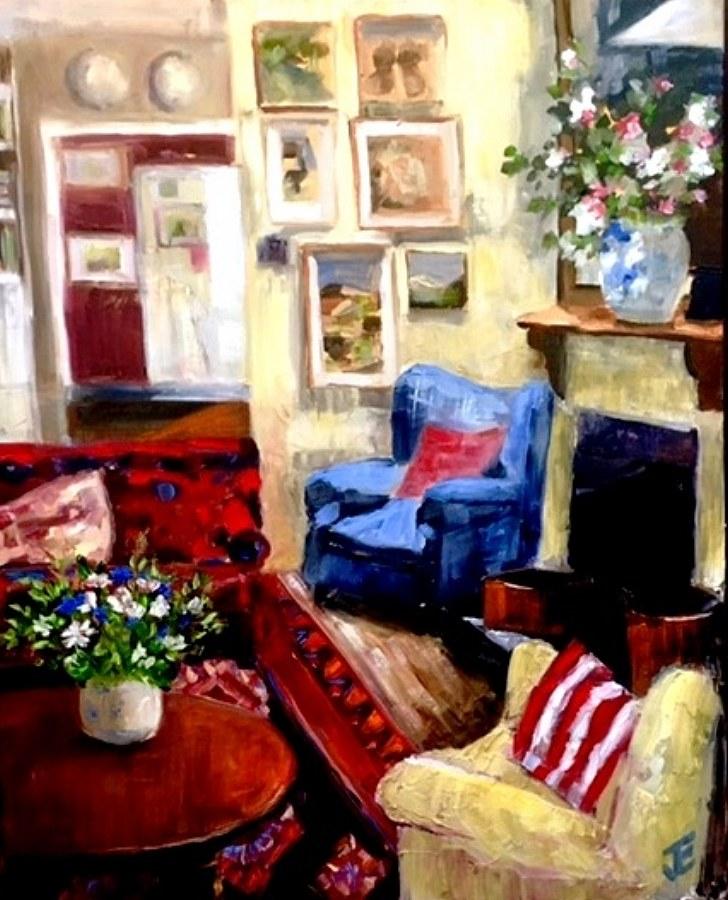 Jennifer Edwards:  Annie's RoomOil on Canvass2017