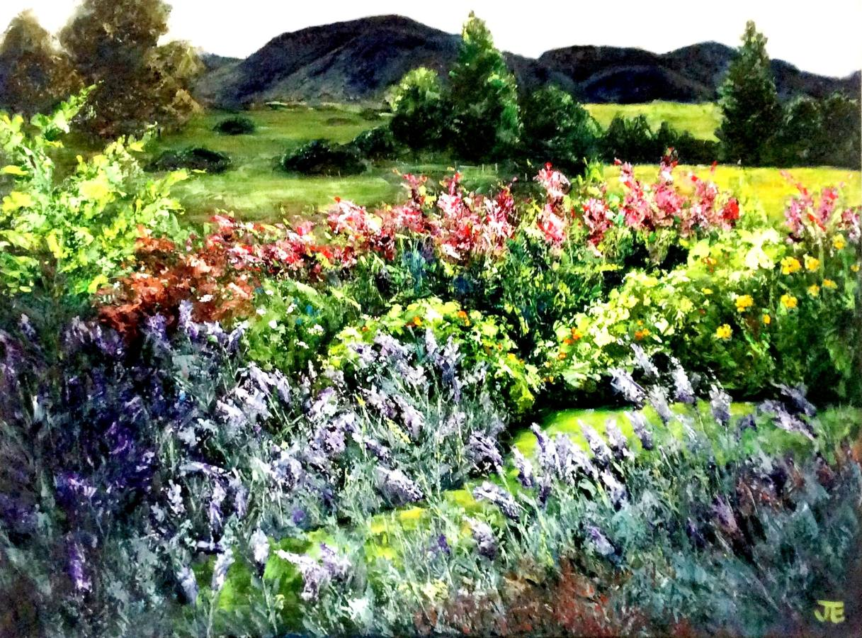 Jennifer Edwards:  Looking Through The LavenderOil on Canvass2018