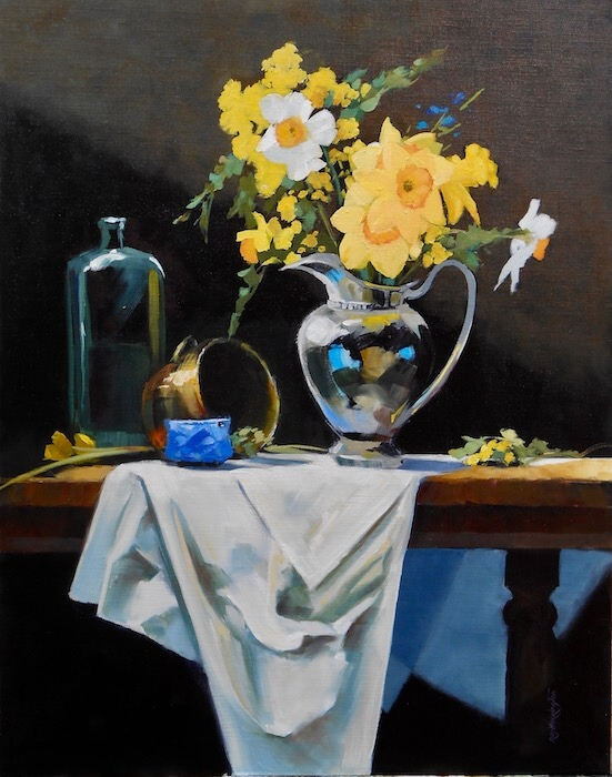Ray Harrington:  STILL LIFE WITH SPRING FLOWERS