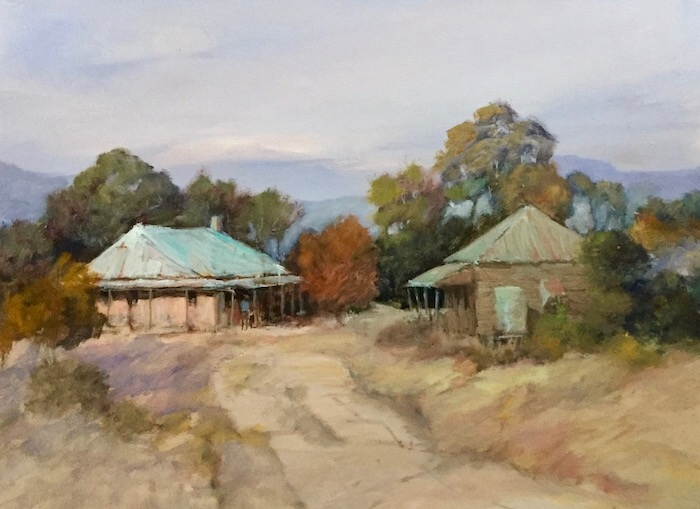 LEONIE LYALL:   AROUND MUDGEE	40X50CM	OIL	2019