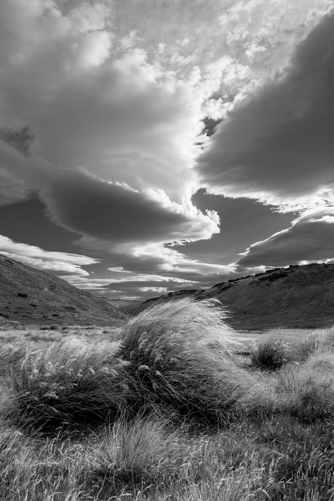 Ian Brown:  Wind, Garvie Mountains, NZ.  Photograph