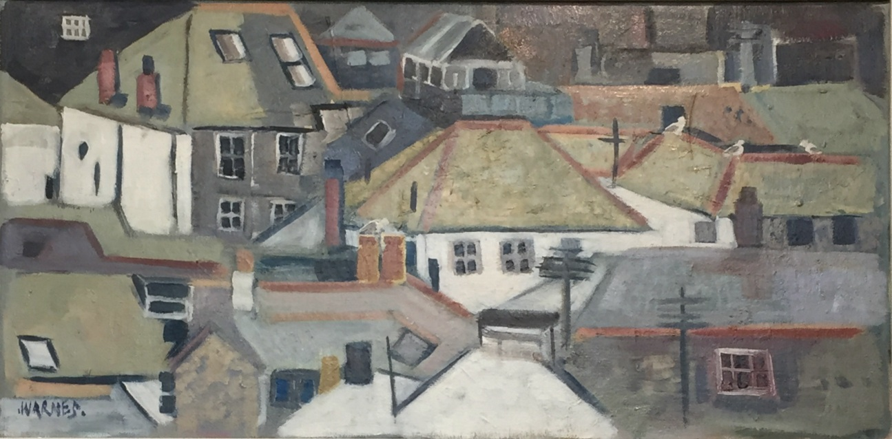 Ann Warnes:  Rooftops of St Ives