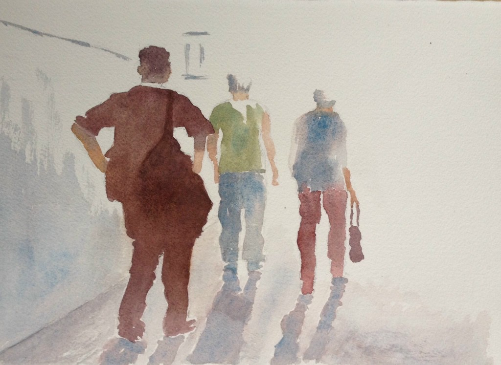 Sally Gersbach:  Corridor	21x29.7cm	Watercolour