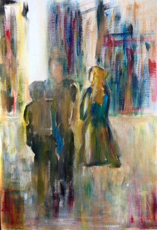 Sally Gersbach:  A Moment in Time	29.7x42cm	Acrylic