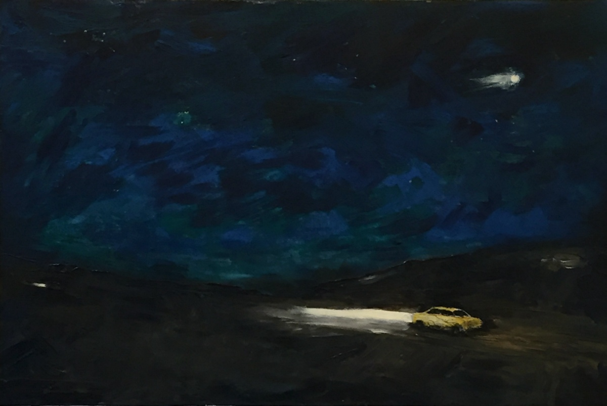 Richard Grammer:  Night Chase   Acrylic. Ink