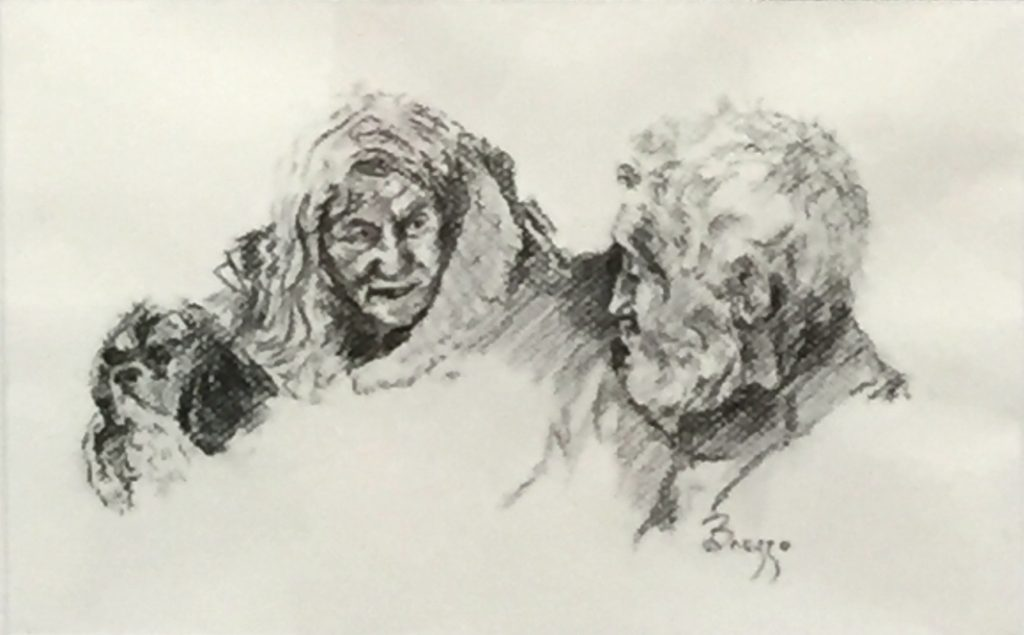 Sally Brezzo: Family. Charcoal