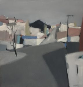 Jane Canfield: West hobart. Oil and Pastel