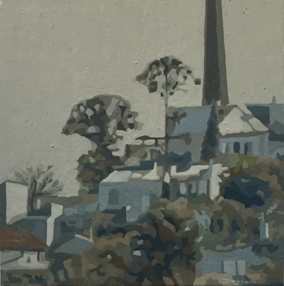 Paul Gorjan: Bunya Bunya Trees in Katoomba,. OIl