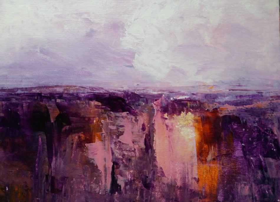 Trish Bennett: Rugged Beauty 	30cm x 23cm 	acrylic	2019