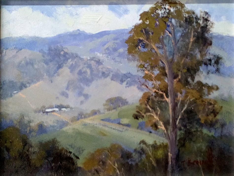 Trish Bennett: Patchwork Landscape44cm x 37cm oil2018