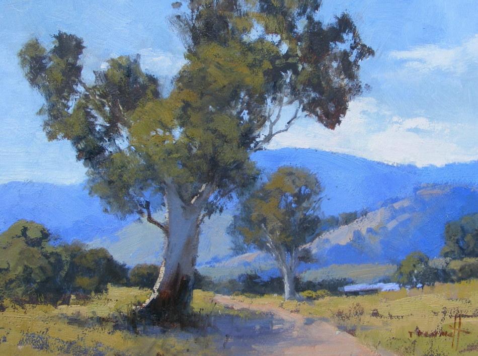 Trish Bennett: Takes My Breath away45cm x 37cm oil2018