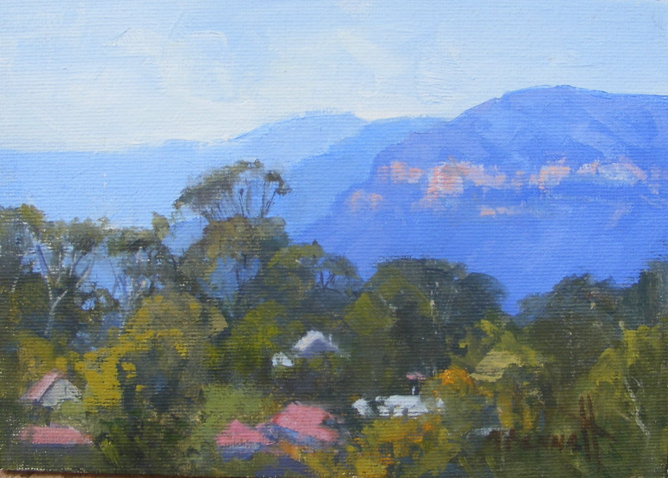 Trish B:ennett: In The Heart Of katoomba	25.5cm x 20cm	oil	2019