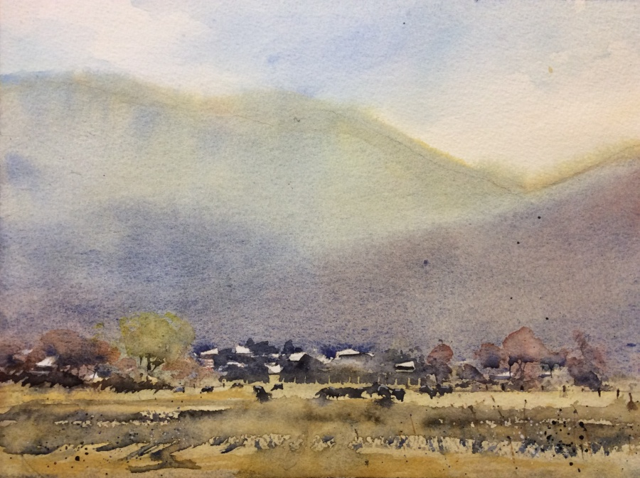 Annie Joseph: Beechworth Hills	30x40	Watercolour 	Jan 2020