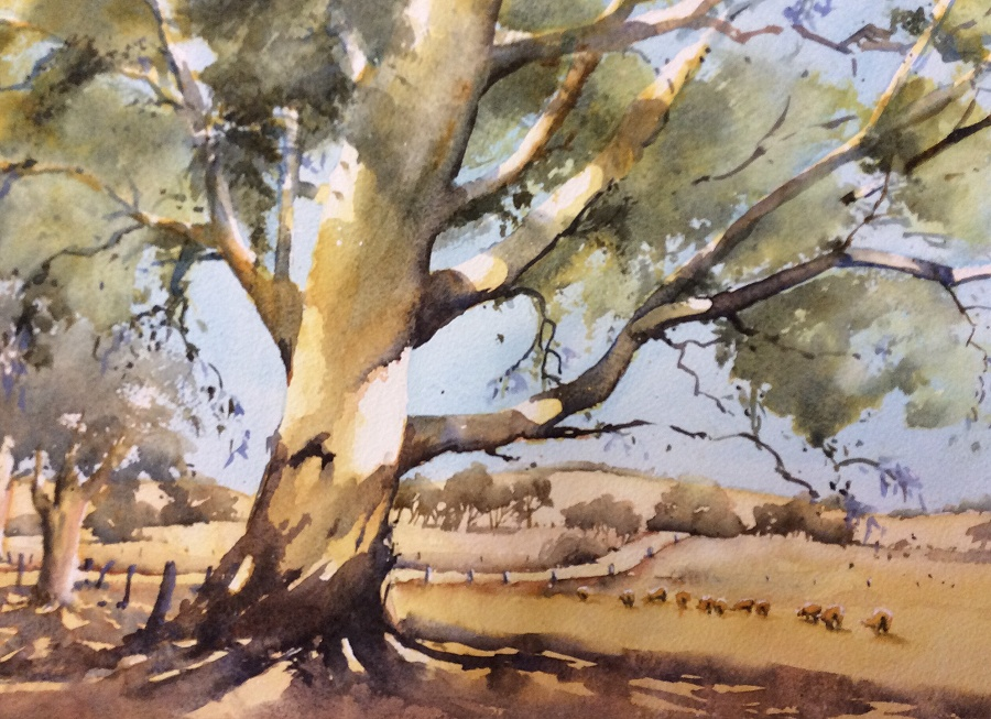 Annie Joseph: Road to Pip's	30x40	Watercolour 	Jan 2020