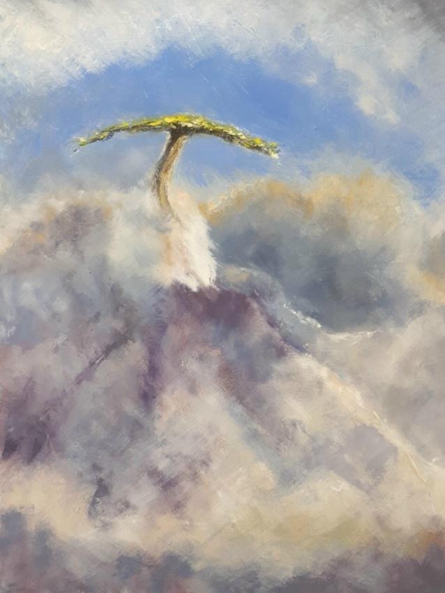 Jennifer Price: Lone Tree46cms  x 60cmsoil paint2019