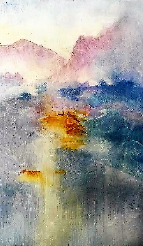 Jennifer Price: Chinese Mountains23.5cms  x 34.5cms watercolour2018