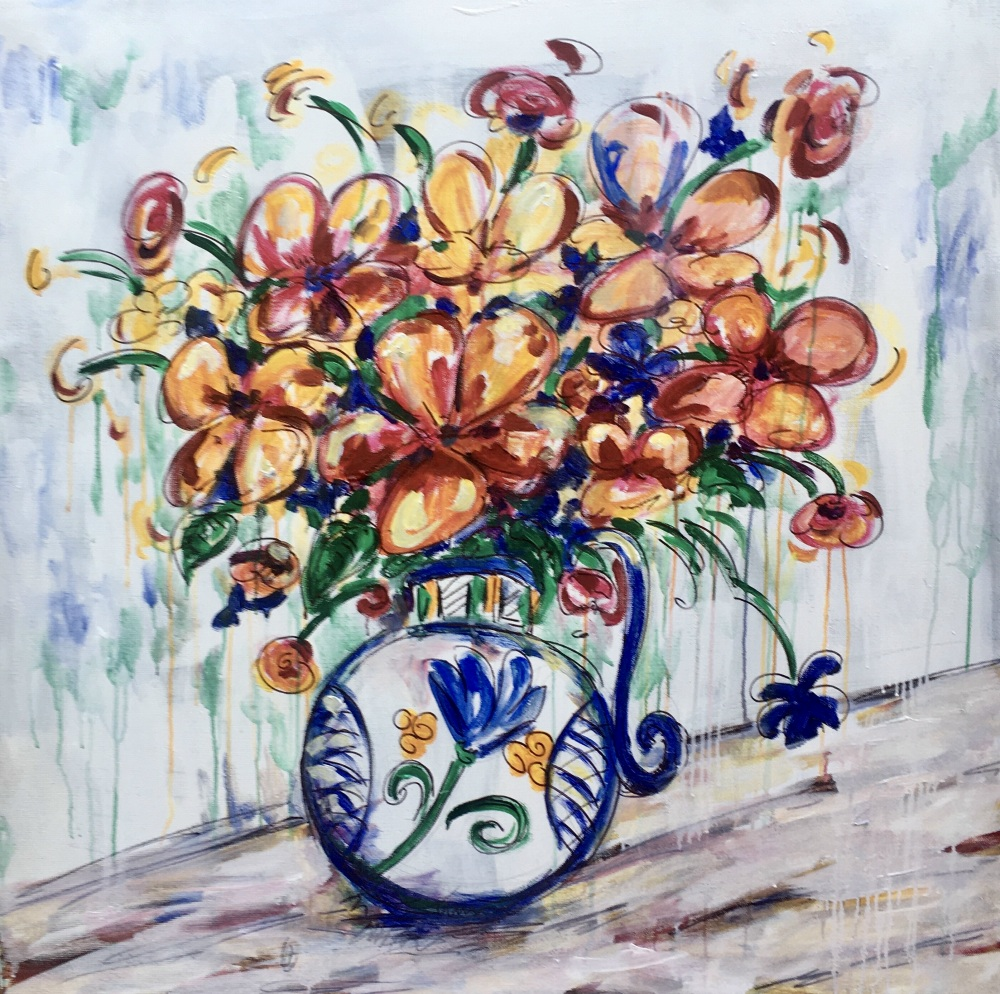 Kylie Blakemore:  Still Life 150 x 150cmAcrylic Paint on Canvas November 2019