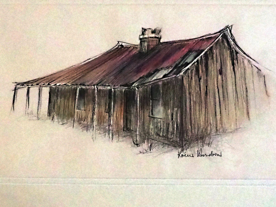 Karen Henderson: Old Homestead, Mid Hartley NSW	560cm x 440cm	Watercolour Pencil & Pen work	2018