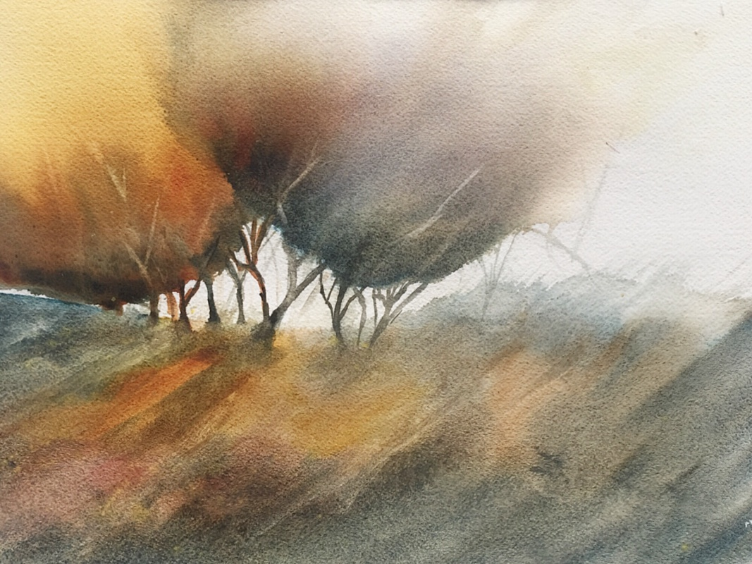 Bob Richardson: Autumn Colours35x26Watercolour2020
