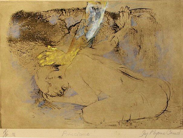 JOY MYERS CREED:  Precious,   Solar plate etching,   21 x 29cm,   2019