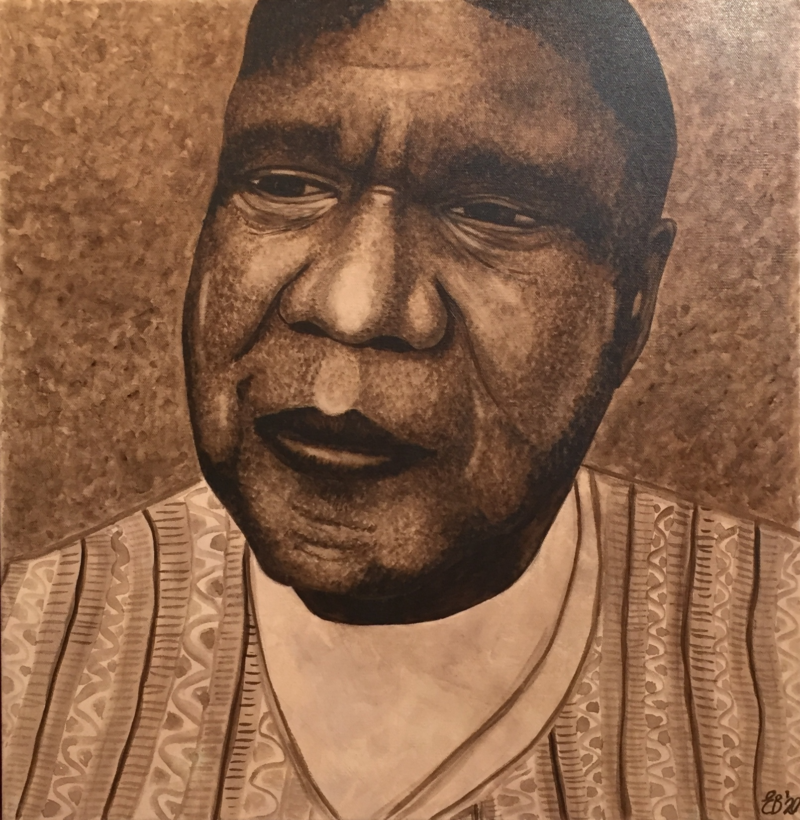 Else-Beate Bright   Remembering Charcoal Lane – Archie Roach     Watercolour on canvas