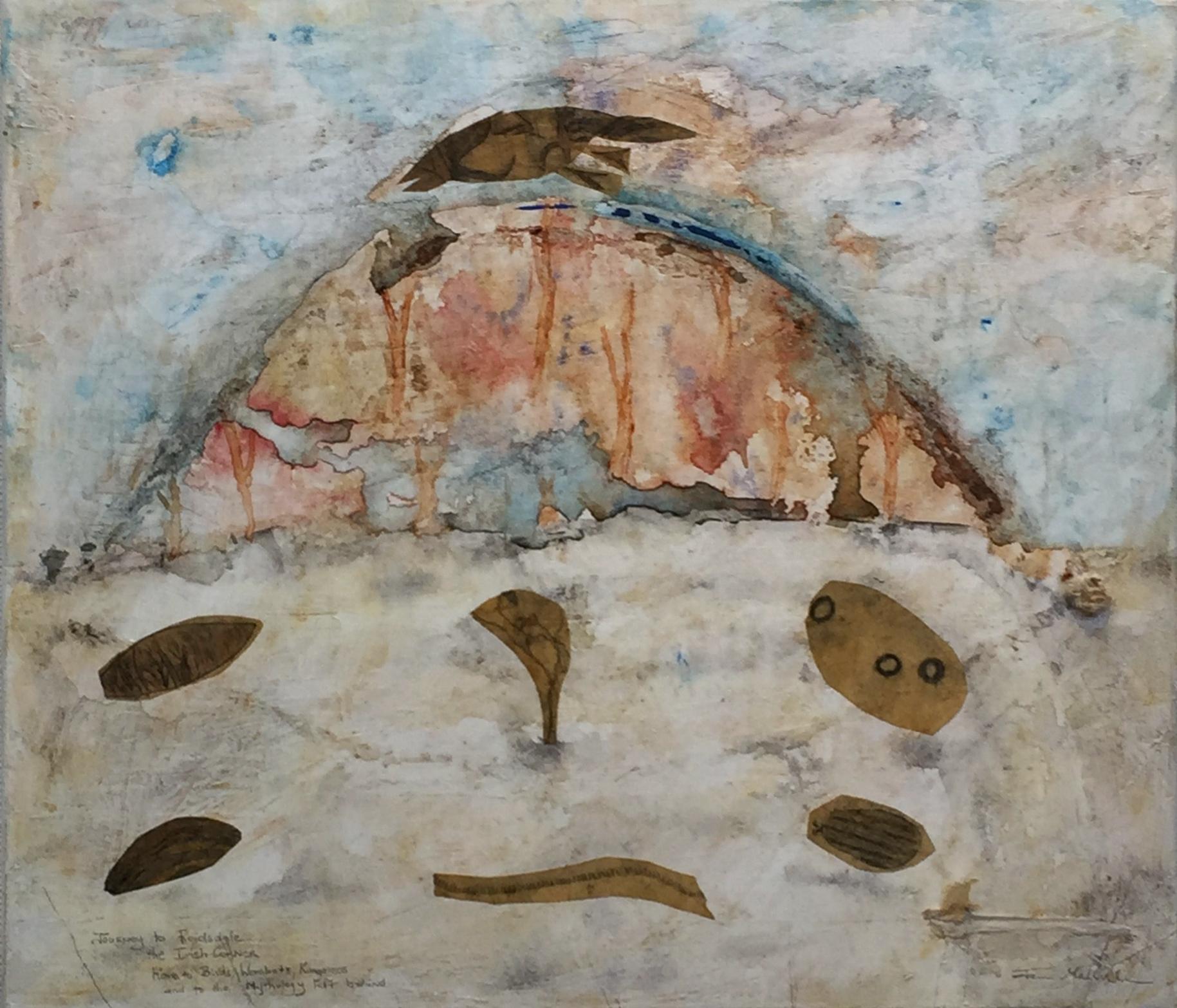 Jan Melville   Reidsdale – Irish Corner   Mixed media print collage on canvas
