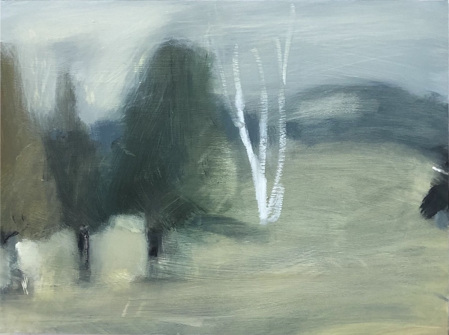 Jane Canfield:  Winter, Hartley	30.5 x 41	Mixed media on BIrch	2020