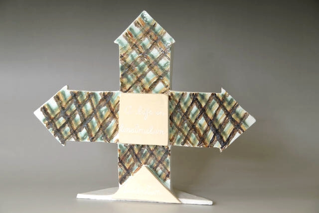Helen Still: A Life of Construction/Invention	30cmx30cm	Dry Slab, W Raku, Slip, Stain	2020