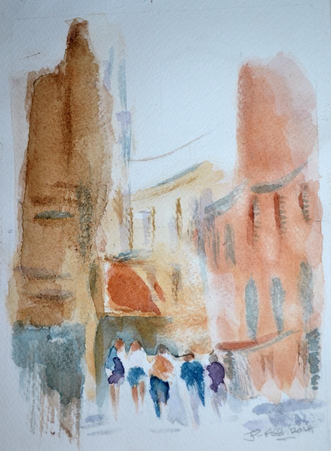 JENNIFER PRICE; Florence Group17.5cms (W) X 25cms (L)Watercolour2020