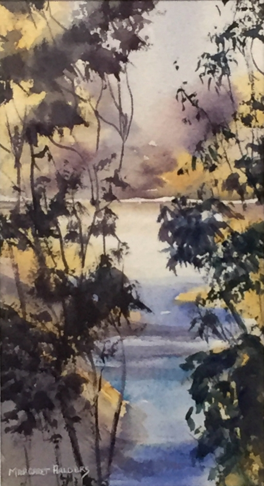 MARGARET AALDERS:  The Dam.   Watercolour