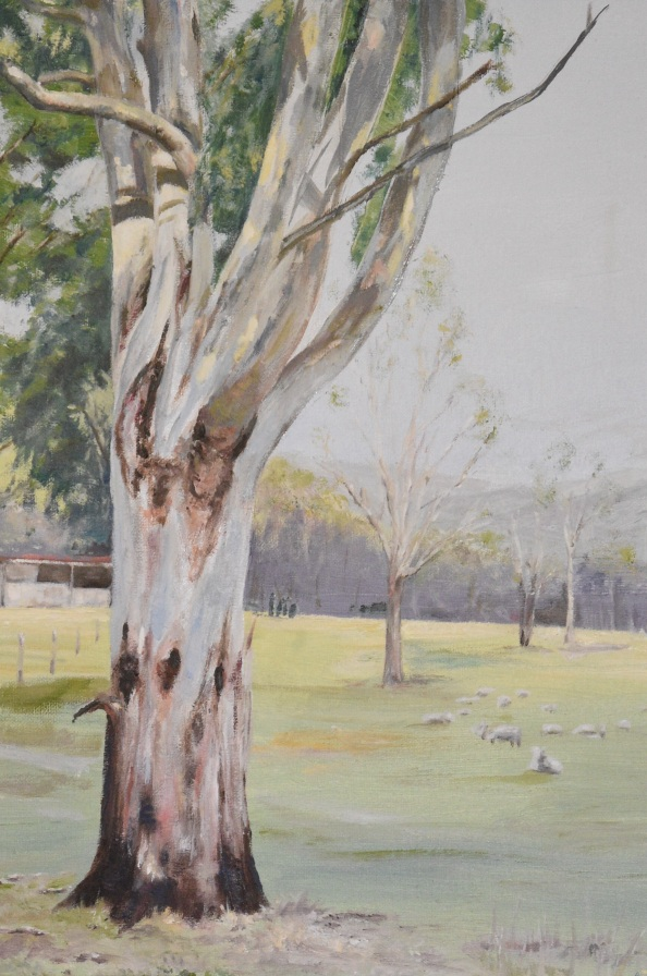 BRUCE GRAY:  Aussie christmas treeOil on canvas2020
