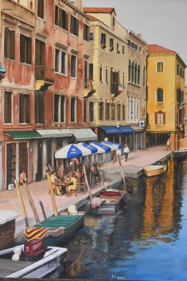 BRUCE GRAY: Venice canal 1Oil on linen2015