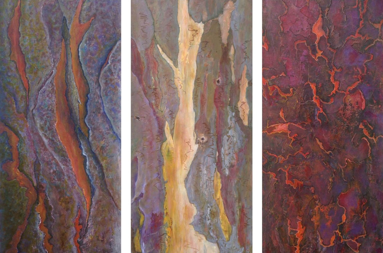 DIRK ROMEYN: Eucalypts (triptych)915mm(h) x 1315mm(w)Acrylic2020
