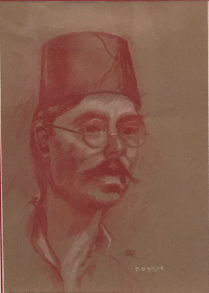 LIZ CONNOR:  The Fez.  Pastel