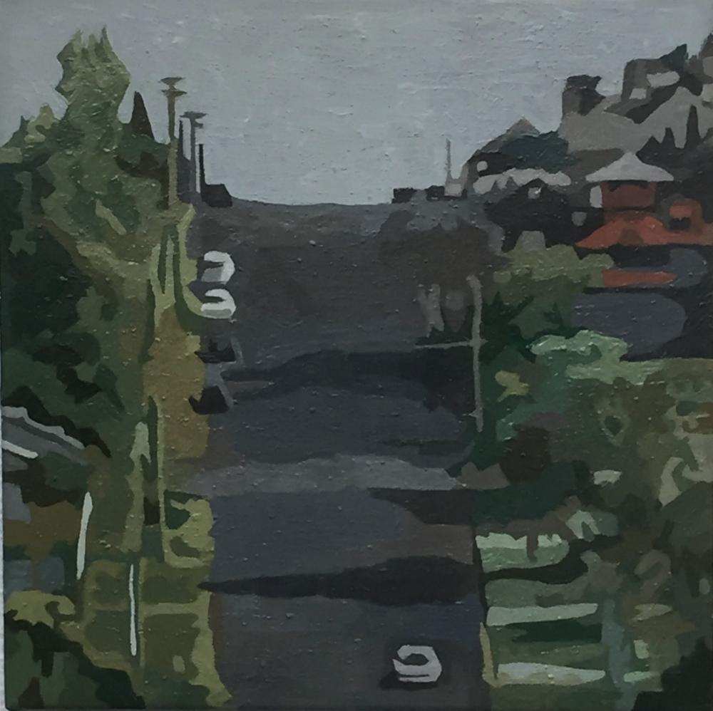 PAUL GORJAN:  Wilson St. Katoomba.  Oil on canvas